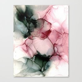 Wispy Plum: Original Abstract Alcohol Ink Painting Canvas Print