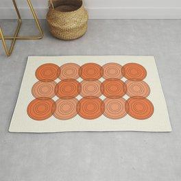 Red & Orange Circles Rug