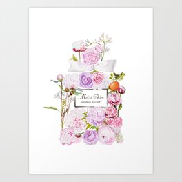 Parfum Perfume Fashion Floral Flowers Blooming Bouquet Art Print