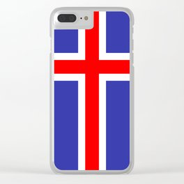 Iceland National Flag Clear iPhone Case