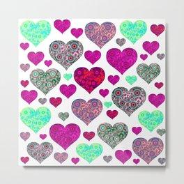 Hearts a Float Metal Print