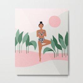 Yoga morning Metal Print