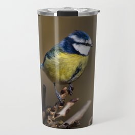 Blue tit (Cyanistes caeruleus) Travel Mug
