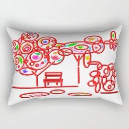 garth - garden pop colorful Rectangular Pillow