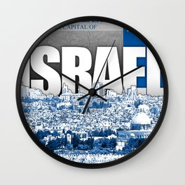 Jerusalem, Israel Wall Clock