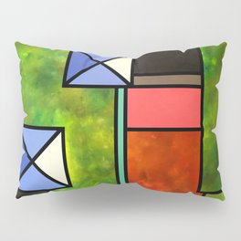 The Garden and the Blue Roofs Pillow Sham