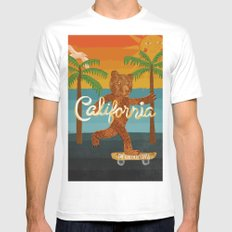California MEDIUM Mens Fitted Tee White