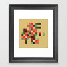 Mid Century Textile Series 1_3 Framed Art Print