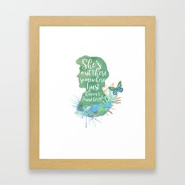 prince erik - she's somewhere out there Framed Art Print