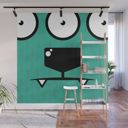 Monsters⁴ : Blue Wall Mural