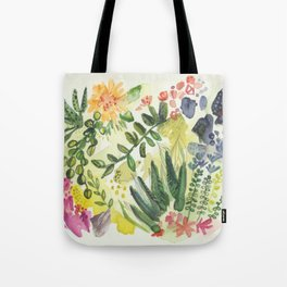 Florals and Corals Tote Bag