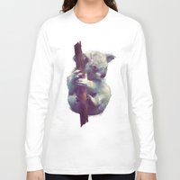 koala Long Sleeve T-shirts featuring Koala by Amy Hamilton