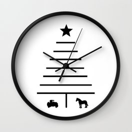 Minimalist Christmas Tree Wall Clock