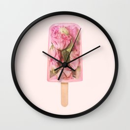 FLORAL POPSICLE Wall Clock