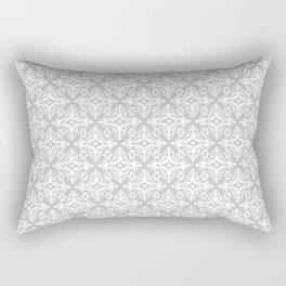 Damask (White & Gray Pattern) Rectangular Pillow