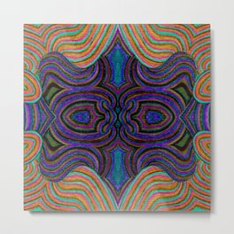 SwankyDoodleSandy Colorblind Repeat Metal Print