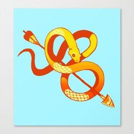 gold snake Canvas Print