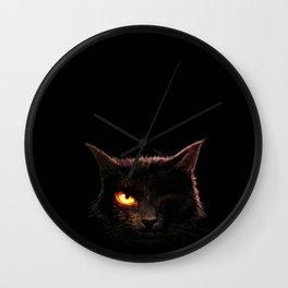 EAPoe's The Black Cat Wall Clock