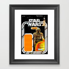 Boba Fett Vintage Action Figure Card Framed Art Print