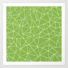 Ab Outline Greeny Art Print