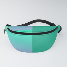 Pink turquoise , blue Ombre Fanny Pack