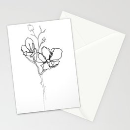 """""""Botanical Collection"""" - Magnolia Flower Print Stationery Cards"""