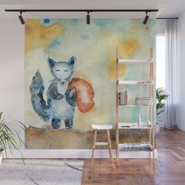 Journey Of A Blue Fox Wall Mural