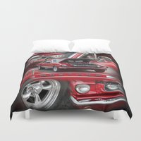 mustang Duvet Covers featuring 1966 Mustang  by Andrew Sliwinski
