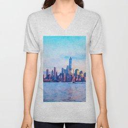 New York 3 Unisex V-Neck