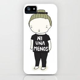 Ni Una Menos iPhone Case