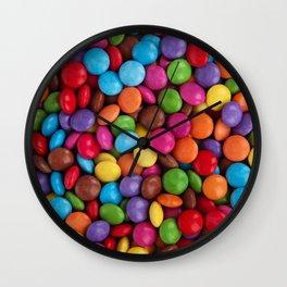 smarties pattern Wall Clock