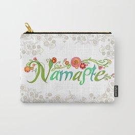 Namaste_Yoga Girls_ Flower Vines Gray_RobinPickens Carry-All Pouch