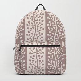 Mid Century Modern Berry Vine Stripes Beige Backpack