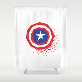 Square Heroes - Captain Shower Curtain