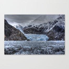 Sawyer Glacier talks back Canvas Print