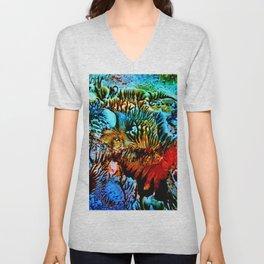 Colorful Underwater Plants Unisex V-Neck