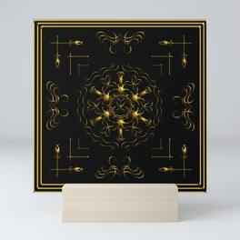 GOLD GRAPHIC HOME DECOR Mini Art Print