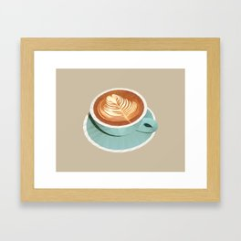 Coffee with Latte Art Polygon Art Framed Art Print