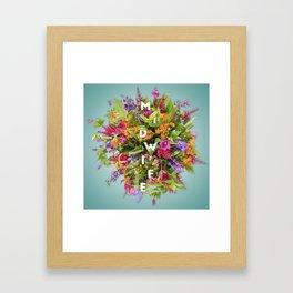 Midwife's Bouquet Framed Art Print