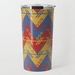 Tribal Zigzag Line Pattern Travel Mug