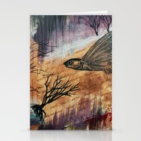 literary Stationery Cards featuring Literary Flying Fish by Sarah Sutherland