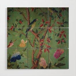 Green Dream Chinoiserie Wood Wall Art