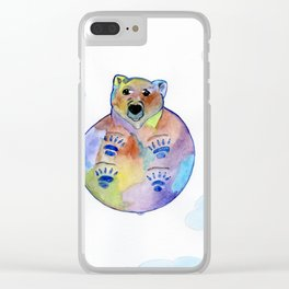 Bear In The Sky Clear iPhone Case