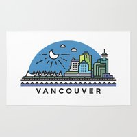 vancouver Area & Throw Rugs featuring Vancouver by Campbell Graphix