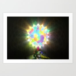 ELECTRIC STAINED GLASS Art Print
