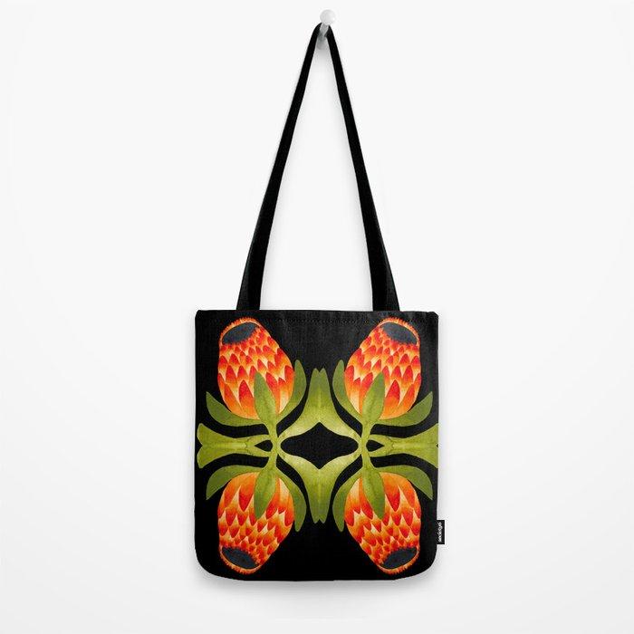 Floral symmetry 1. Tote Bag