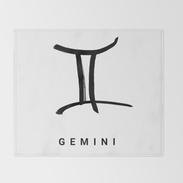 KIROVAIR ASTROLOGICAL SIGNS GEMINI #astrology #kirovair #symbol #minimalism #horoscope #zwilling #ho Throw Blanket