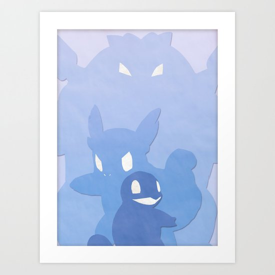 Water Starters Art Print
