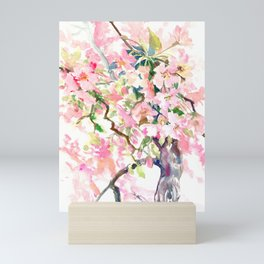 cherry blossom spring floral pattern Mini Art Print