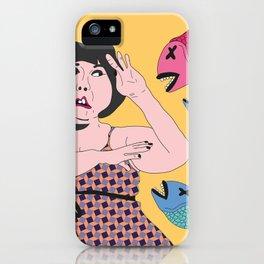 pez koi ataque iPhone Case